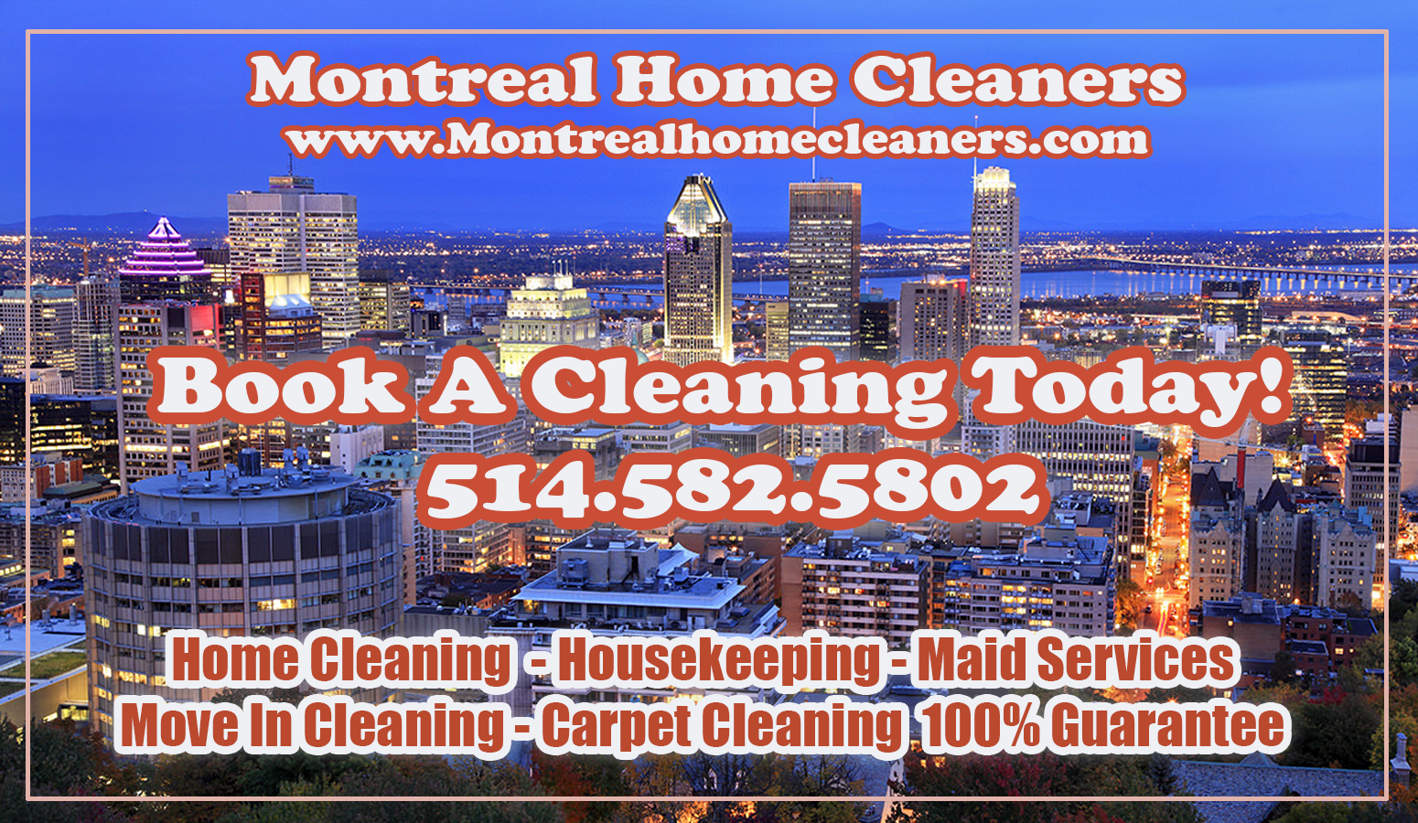 Montreal Home Cleaners | Maids | Housekeeping Services